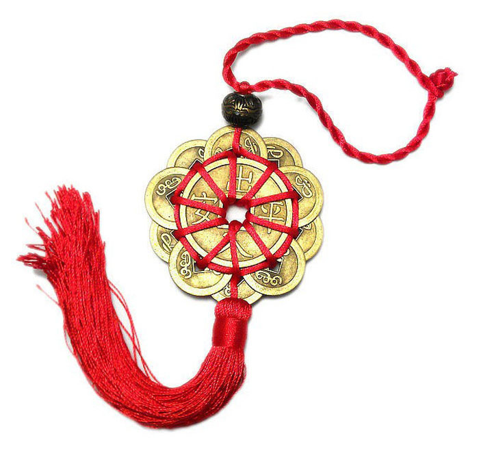 Chinese Lucky Feng Shui Bagua Charm Wealth Good Fortune Gift