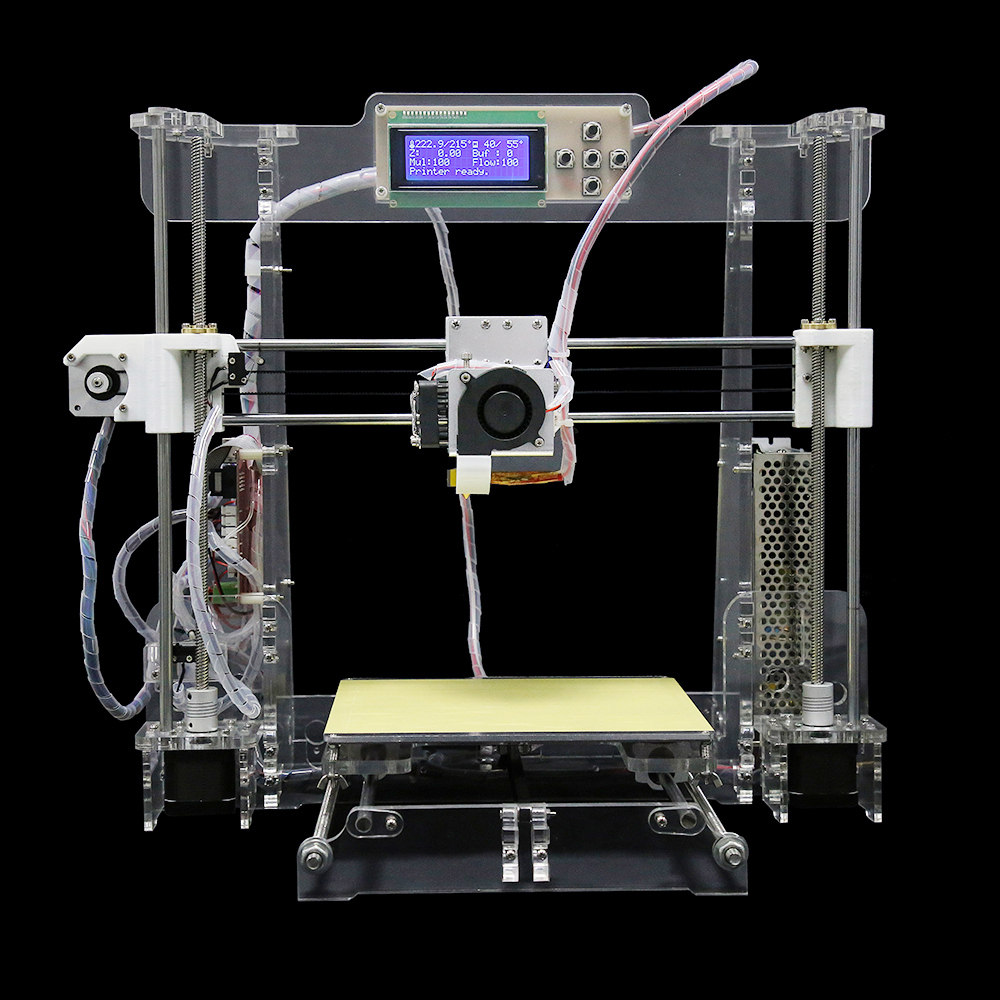 Hot Sell Clear Arcylic Reprap Prusa I3 DIY 3D Printer High impressora KIT Max size 220