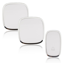 2pcs Smart Receiver Doorbell with Retail Box Battery 10/220V Home Gate Security Wireless Door Bell 32 Chimes 36 Melody