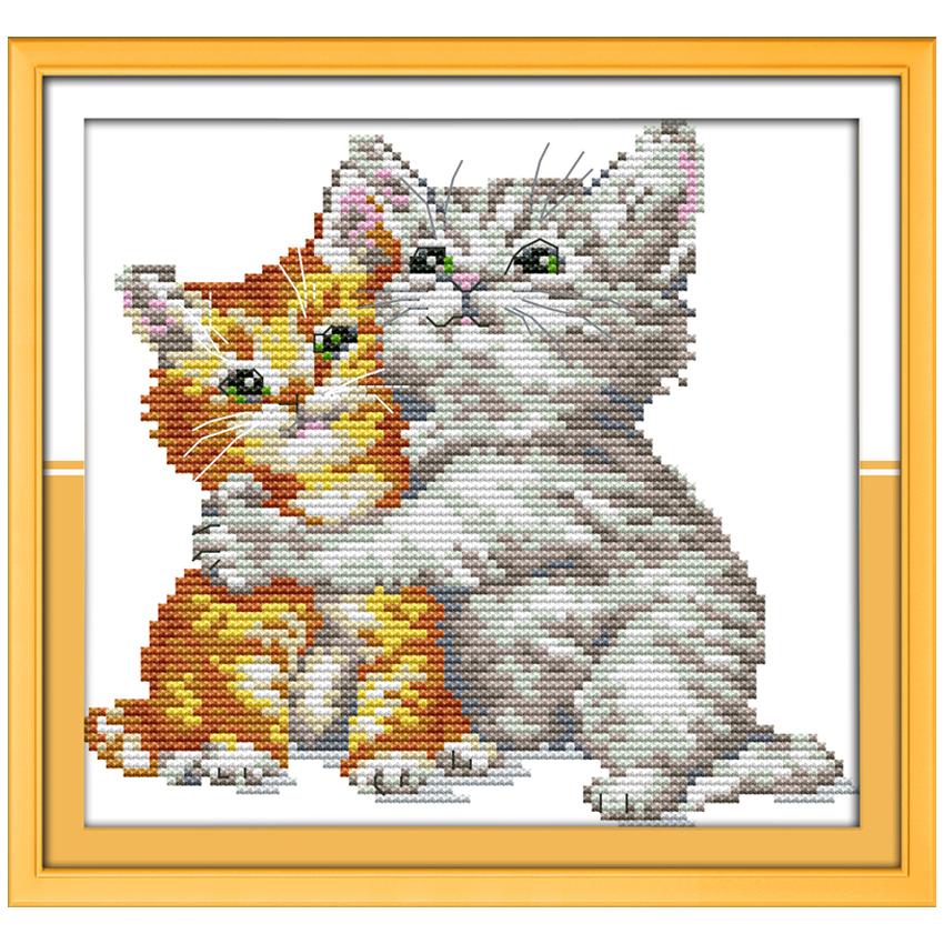 Схема алмазной вышивки коты