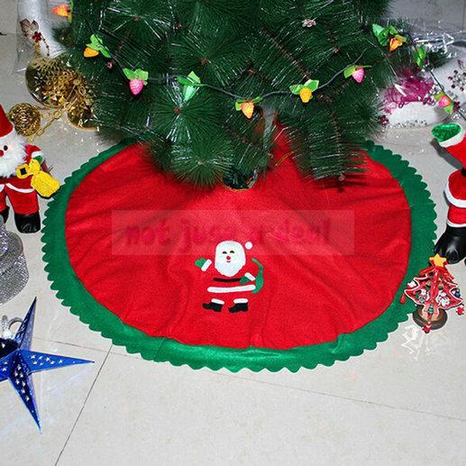New Christmas Tree Skirt Santa Tree Wrap Apron Carpet Decor Christmas Supplies 90CM(China (Mainland))