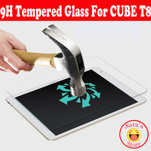 High Quality Tempered glass screen protector film For Cube T8 T8S T8Plus ,free shipping free wiping cloth