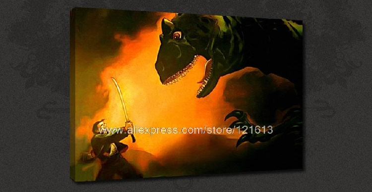 Heroes Hiro Dinosaur Tv Serial Canvas Many To Choose From Oil Paintings Cafe Art Panel Art Huge Picture Painting Cheap Co(China (Mainland))