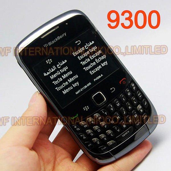 Original BlackBerry 9300 Curve Mobile Phone Smartphone Unlocked 3G WIFI Refurbished Cellphones(China (Mainland))