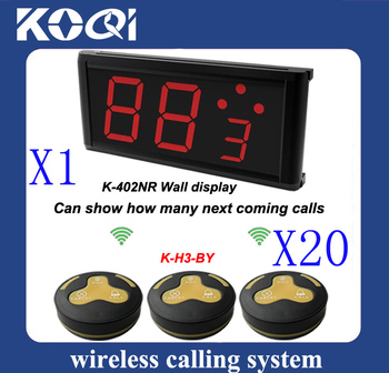 Wireless Service Calling System of 20 pcs of H3-BY service bells and 1 pc of K-402NR calling receiver