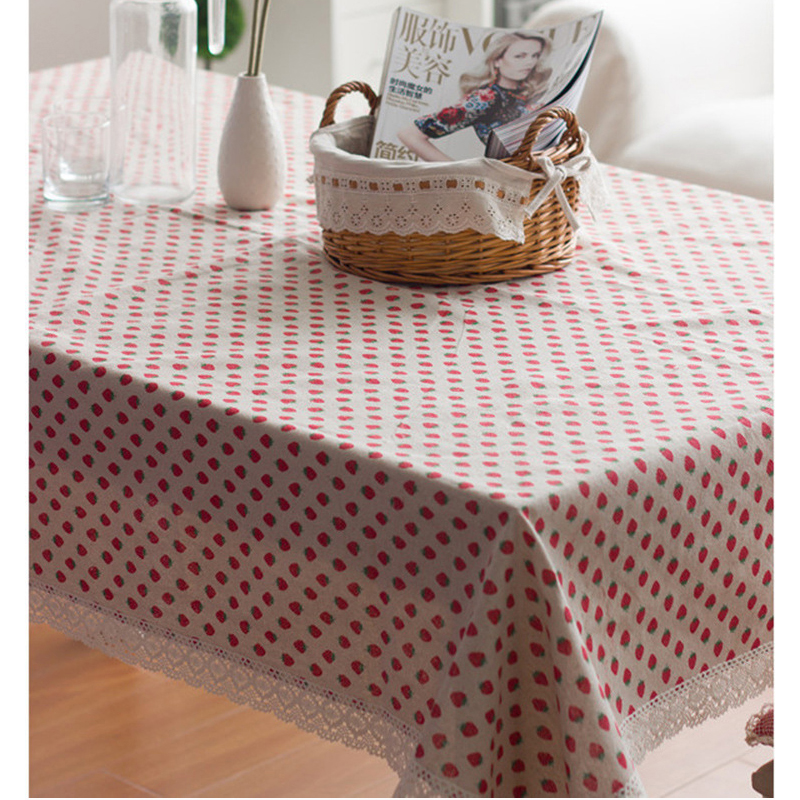 product Strawberry Tablecloth Direct Linen Rochet Lace Rectangular Tablecloths Tabel Poker Table Cloth Tablecloths For Square Table