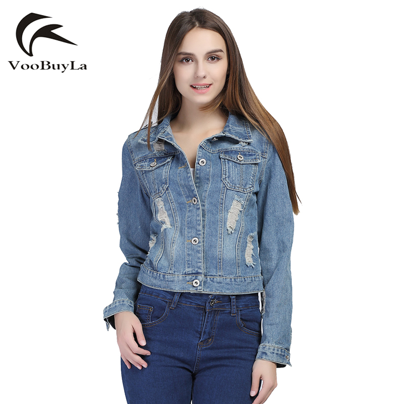 Plus size denim jacket with short sleeves – Novelties of modern ...