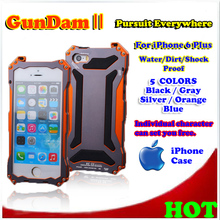 Free Shipping, R-Just GunDam SC-11 Metal Case, 5 colors, Water / Dirt / Stock Proof, For iPhone 6 Plus, Retail and wholesale.