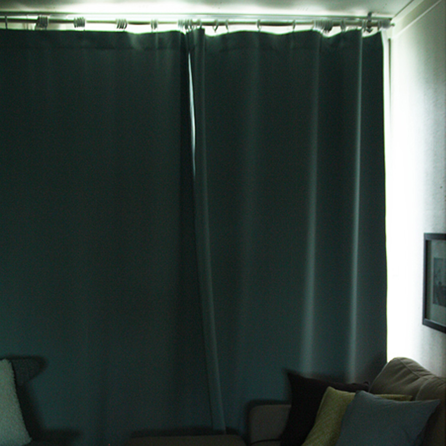 Green Shade Sun Bedroom Hotel Great Light Blocking Curtains Finished Solid Thicker Insulation