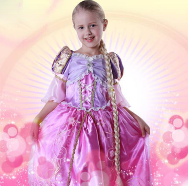 Free Shipping Purple Tangled Rapunzel Princess Cosplay Costume Dress For Girls KidsОдежда и ак�е��уары<br><br><br>Aliexpress