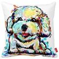 Cartoon Bichon Cat Bulldog Bull Terrier Dog Print Car Decorative Throw Pillowcase Pillow Case Cushion Cover