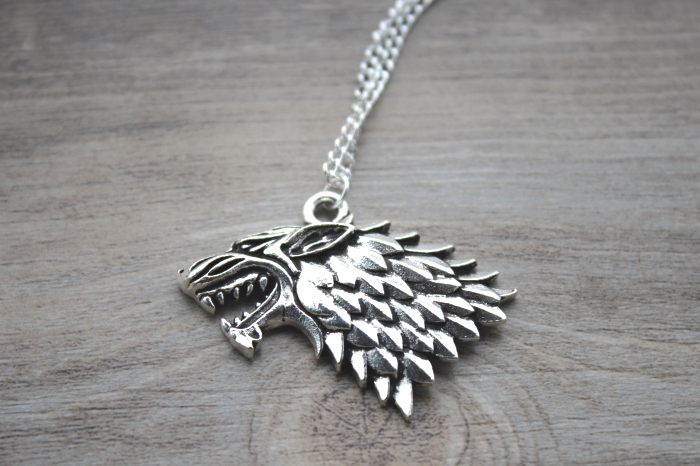 The song of ice and fire Game of Thrones - Stark Wolf Necklace silver tone(China (Mainland))