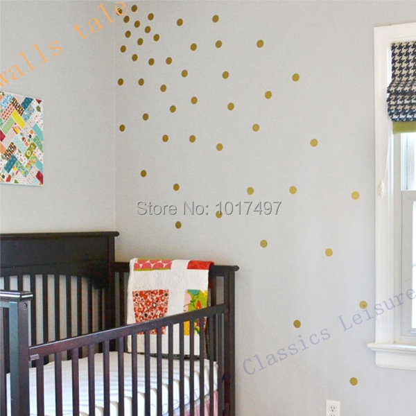 free shipping variety of sizes gold vinyl wall sticker