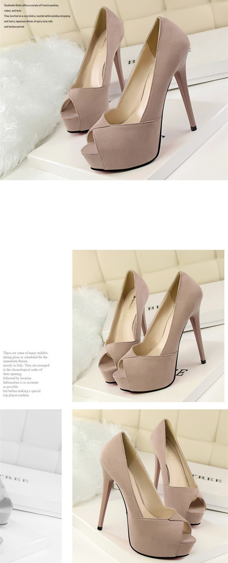 Size 4~8 Elegant Autumn Women Shoes Peep Toe Red High Heels Shoes 2016 New Women Pumps zapatos mujer (Check Foot Length)