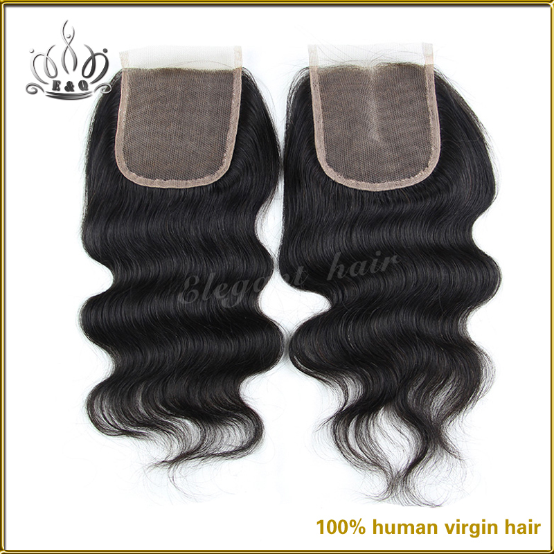 7A Virgin Brazilian Lace Closure Can Dyed Unprocessed Body Wave Human Hair Bleached Knots Free Middle 3 part Closures - Qingdao ElegantQueen product Co. ltd(T3 Store store)