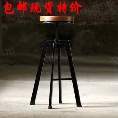 Здесь можно купить  Free shipping Iron Wood Bar Stool American country to do the old retro bar stool tall stool  Мебель