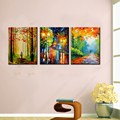 Famous artist paulette oil knife painting canvas art picture abstract modern colorful beautiful landscape painting home