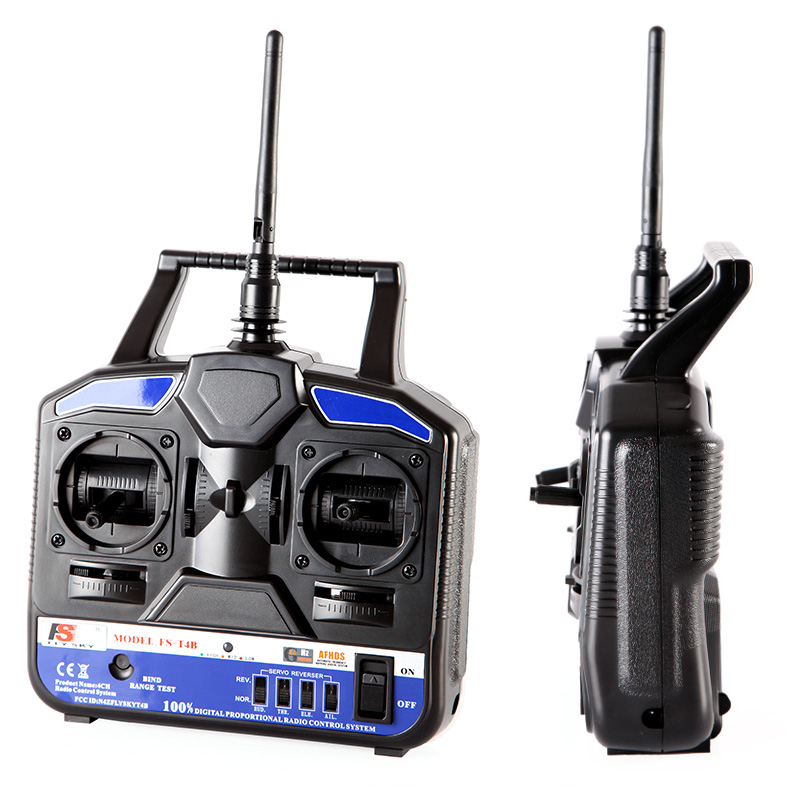 2015 Top Selling 2.4G FS-T4B 4CH Radio Model RC Plane Transmitter & Receiver Helicopter Airplane wholesale(China (Mainland))