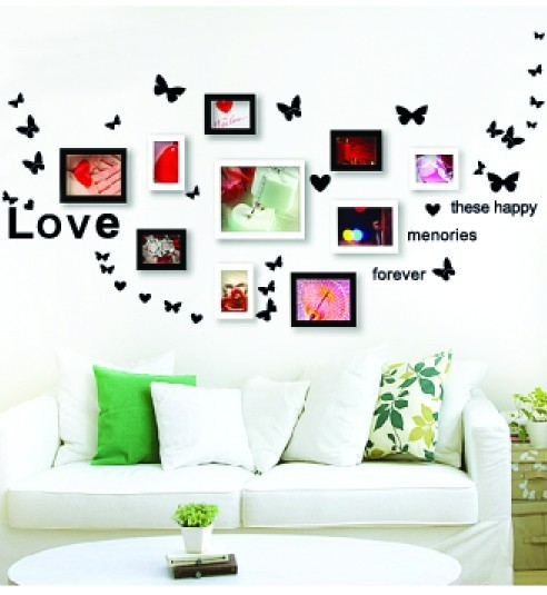 Three generations of love butterfly tv wall ofhead sofa wall stickers sticker