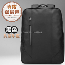 2015 new fashion men s business casual leather shoulder bag dual use high end travel Baotou