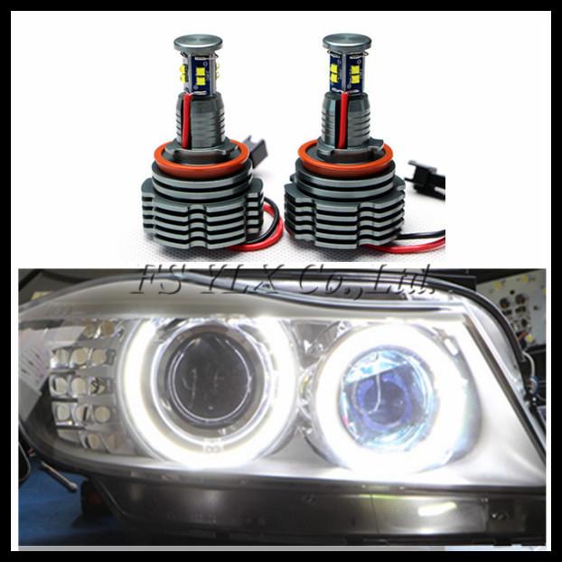 H8 40W LED angel eyes for BMW E87 E82 E92 E93 E70 E71 E60 E61 E90 E63 LED marker C.ree LED Headlight halo ring bulb Canbus(China (Mainland))