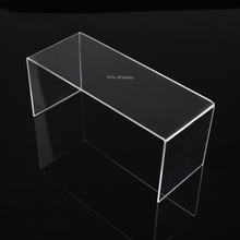 Free Shipping Fashion Acrylic Shoe Display Shelf  Clear Shoe Display Stand Shoe Shelves Shoe Riser RST001(China (Mainland))