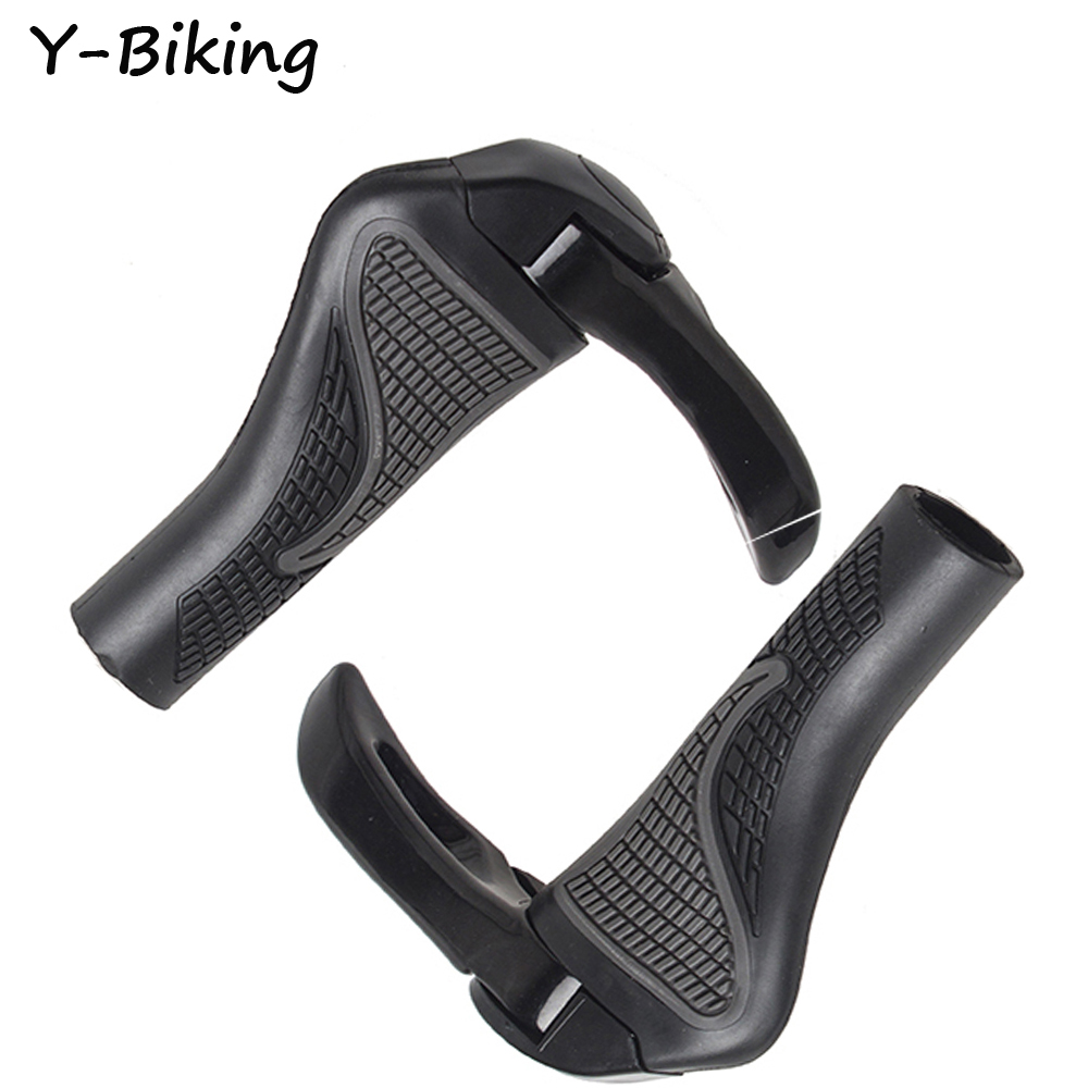 MTB Mountain Bike Bicycle Handlebar Grips Durable Rubber Aluminum Cycling Grips Bicycle Parts YB-WZRB-21(China (Mainland))