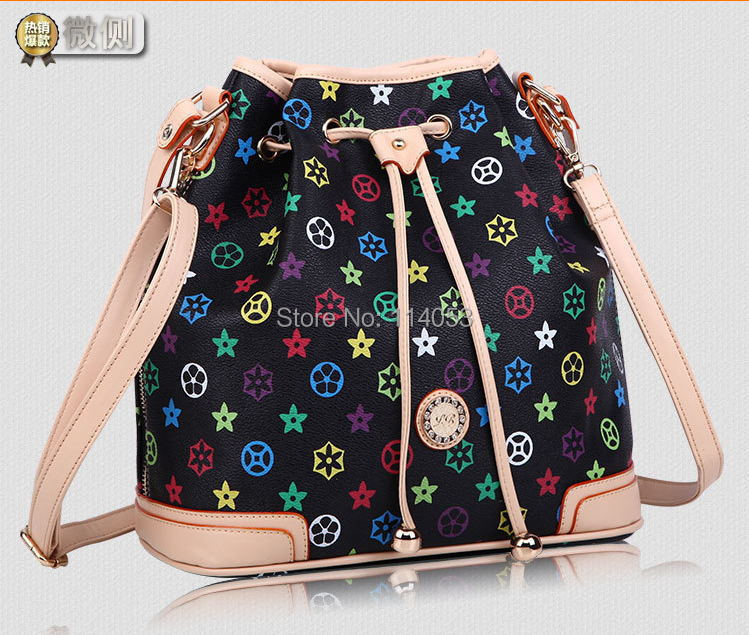 Women 2015 Europe America Style shoulder handbags Messenger Bag Retro & Fashion BUCKET bag PVC Colorful/Jane 91 - JamesZhang store
