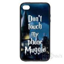 For iphone 4/4s 5/5s 5c SE 6/6s plus ipod touch 4/5/6 back skins mobile cellphone cases cover Don't Touch My Phone, Muggle