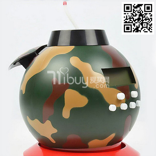-A fashion design Simulation mines Alarm Clock Digital Table bomb Alarm Clock with banking and game functional with free shippin(China (Mainland))