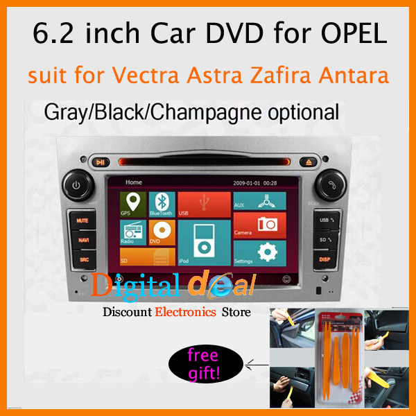 6.2 inch ALEX RGB888 ture color HD display 2 din car dvd gps for Opel/Astra/Vectra/zafira/Antara Free DHL(China (Mainland))