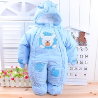 The best quality girl boy newborn baby winter wadded jacket cotton-padded jacket infant  year old autumn and winter child romper