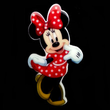 40pcs/Lot 46x25mm Minnie Mouse Red Polka Dot Dress And Bow Planar Resin Cabochons Flat Back Hair Bow Center Card Making Crafts(China (Mainland))
