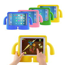 2016 New Hot EVA Kids Case Cover Thick Foam Shock Proof Soft Handle Stand Case For Apple For iPad mini 2(China (Mainland))