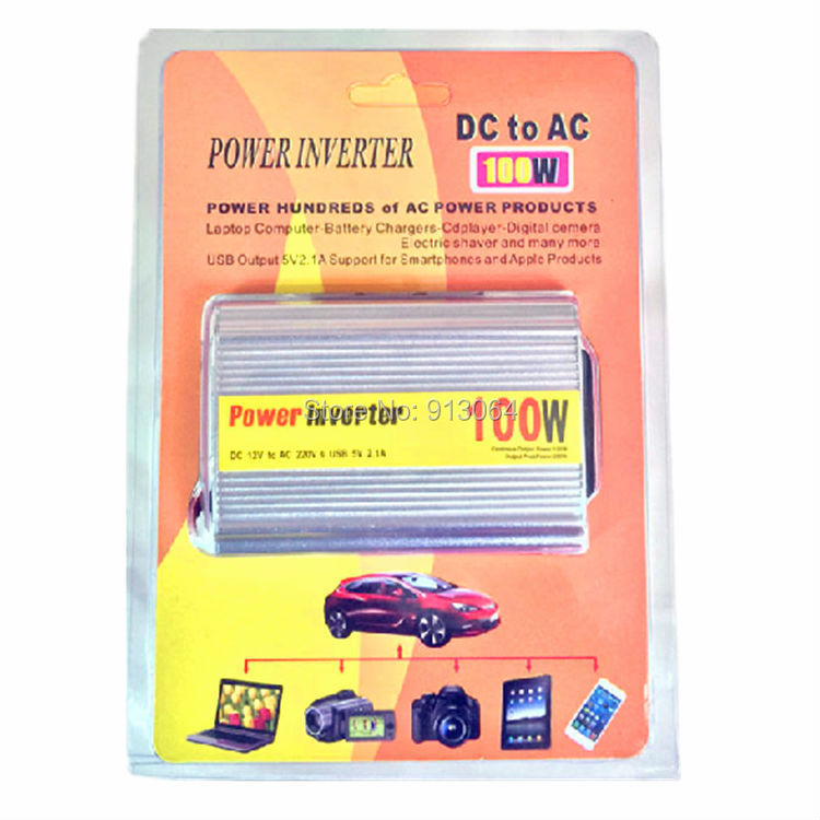 100W dc 12v to ac 220v cigarette lighter inverter power converter Hot selling USB 2.1A made in china car charge power inverter(China (Mainland))