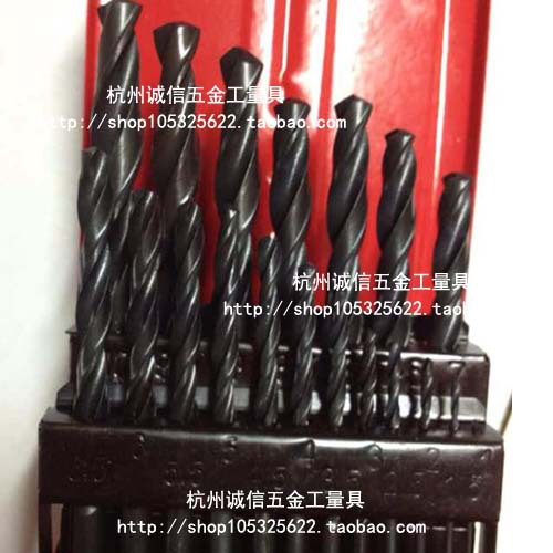 Wholesale straight shank twist drill set (1-13) straight handle high-speed steel twist drill kit / 25 installing a set<br><br>Aliexpress