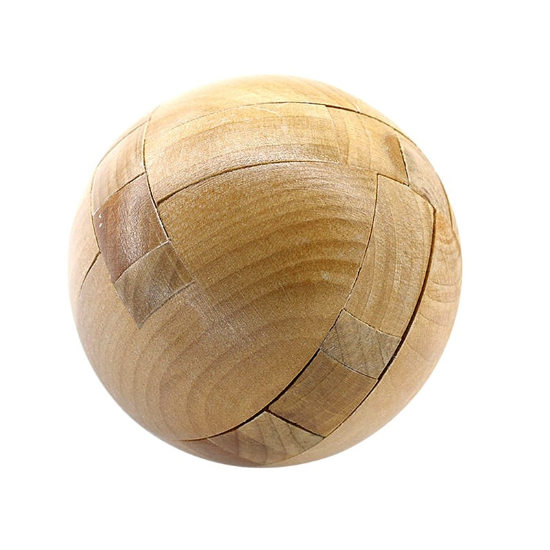 Hot sale wooden 3D Puzzle Ball Ming lock Assembling toys Intellectual challenge Children educational toys creative gift(China (Mainland))