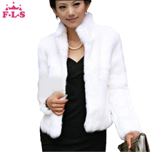 women coat Casual Short Design Turn-down Collar Fluffy faux rabbit fur coat Lady Garment Plus Size Warm Winter overcoat FUR002(China (Mainland))