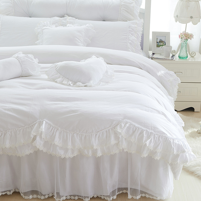 White Ruffle Comforter Promotion Shop For Promotional