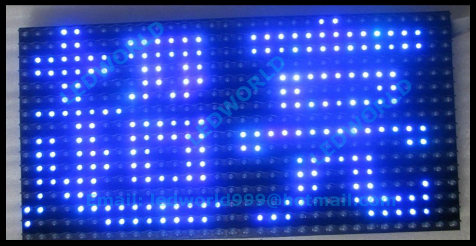 factory price high brightness waterproof 32*16 outdoor p10 led display module blue color p10 led(China (Mainland))