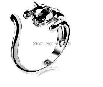 JJ002 Hotsale! Adjustable Cat Ring Animal Fashion Ring Fashion jewelry