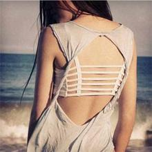 Newest Fashion Sexy Solid Color Tanks Girls Padded Hollow Out Backless Short Tanks Tops Women One