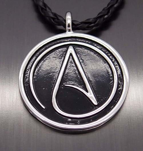 """New Fashion Men Women Atheist Atheism Symbol Silver Pewter Pendant with 20"""" Free Necklace Jewelry PP#270 2 orders(China (Mainland))"""