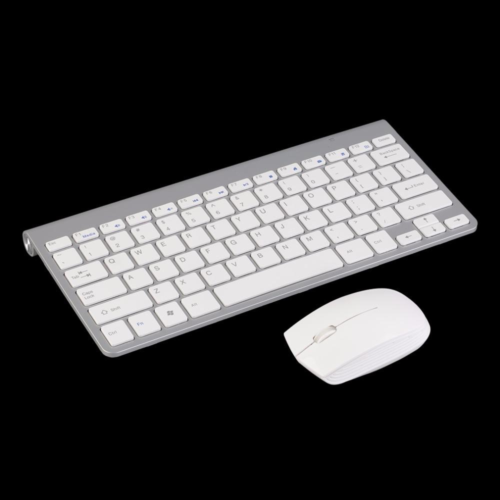 White Keyboard Mouse Combos Kit 2.4G Keyboard + Mute Wireless Mouse Mice Combo Set For PC Computer(China (Mainland))