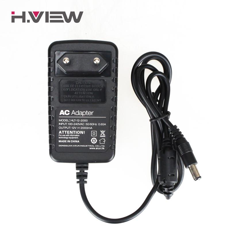 H.View 12V 2A Output Power Supply for Surveillance System CCTV Camera DVR 100-240V Input EU US UK AU Plug CCTV Accessories(China (Mainland))