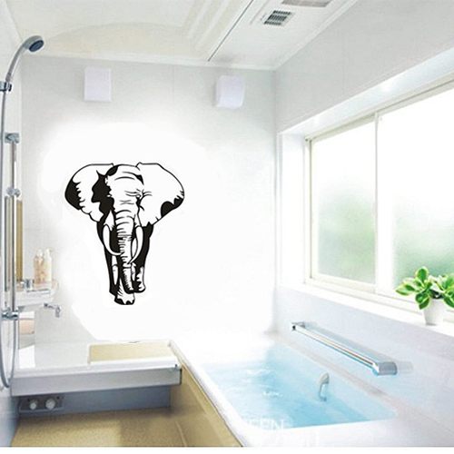 Free shipping home decor mural vinyl wall sticker africa African elephant home decor