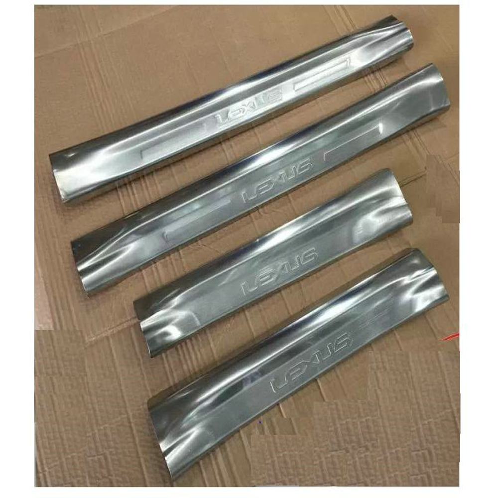 4 PCS Car Exterior Accessories Built-in  Door Sill Plate for Lexus NX-Silver<br>