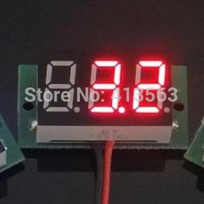 NEW VOLTMETER digital 4.7V-32V precision digital-display digital Voltmeter 4.7v to 32v LED SIZE:23 x 15 x 10 mm ( RED ) 0034(China (Mainland))