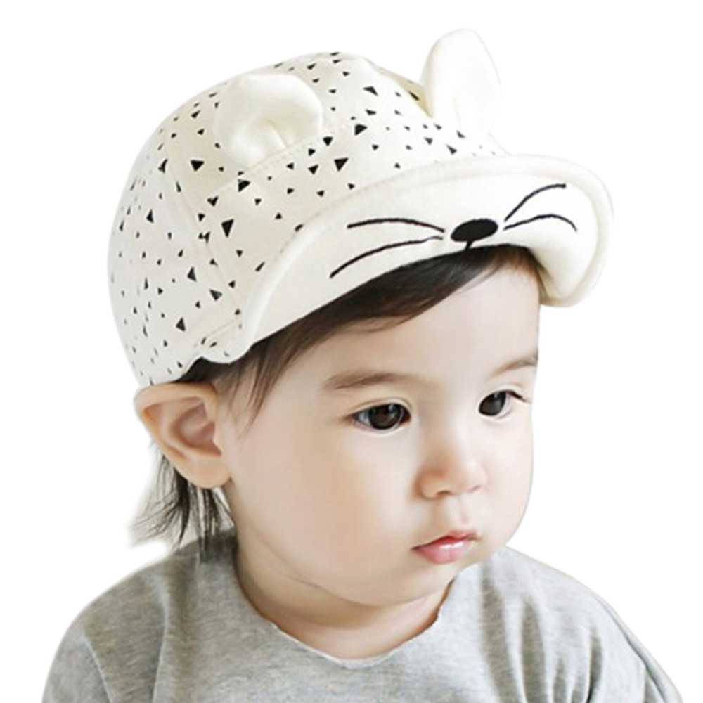 3-24 Months Fashion Baby Beret hat Girls snapback Hats Child Baseball Caps Kid Peaked Hats Infant rabbit Cap Visor Outdoor W8(China (Mainland))