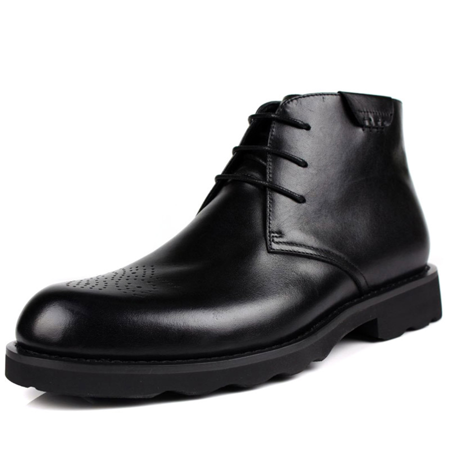 Fashion mens 2014 cowhide male boots pointed toe trend lacing genuine leather male boots black leather boots<br><br>Aliexpress